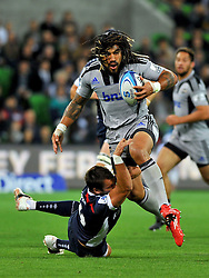 Ma'a Nonu (HUR).Melbourne Rebels v The Hurricanes.Rugby Union - 2011 Super Rugby.AAMI Park, Melbourne VIC Australia.Friday, 25 March 2011.© Sport the library / Jeff Crow