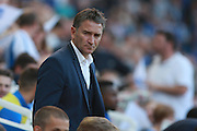 Nottingham Forest Manager Philippe Montanier during the EFL Sky Bet Championship match between Brighton and Hove Albion and Nottingham Forest at the American Express Community Stadium, Brighton and Hove, England on 12 August 2016. Photo by Bennett Dean.