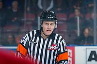 KELOWNA, CANADA - JANUARY 10: Referee Ward Pateman on January 10, 2017 at Prospera Place in Kelowna, British Columbia, Canada.  (Photo by Marissa Baecker/Shoot the Breeze)  *** Local Caption ***