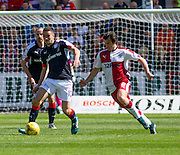 Dundee's Michael Duffy and Rangers' Joey Barton - Dundee v Rangers, Ladbrokes Scottish Premiership at Dens Park<br /> <br />  - © David Young - www.davidyoungphoto.co.uk - email: davidyoungphoto@gmail.com