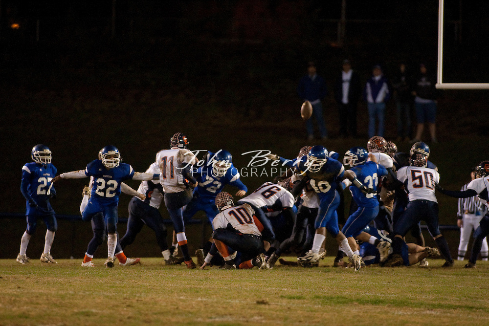 MCHS Varsity Football .vs Clarke Eagles .Clarke 47, Madison 7  .11/13/09