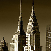 A view of manhattan Chrysler Building and Empire State Building
