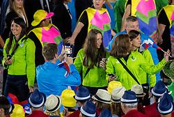 05-08-2016 BRA: Olympic Games day -1, Rio de Janeiro<br /> Openingsceremonie van de Olympische Spelen in Rio / dans, muziek, show en eenboodschap aan de wereld - Slovenie Slovenia / Iztok Cop of Slovenia