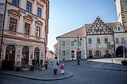 The main square with The Hussite Museum on the right located in the South Bohemian city of Tabor. A group of Jan Hus followers came to a hill where a Premyslid settlement used to be and they founded a town there in the year 1420 and gave it a Biblical name - Tabor. Being led by captains Jan Zizka of Trocnov and Prokop Holy they started out on their victorious battles from there. The foundation of Tabor is connected with the name of Jan Hus, a great reformer of the Catholic Church. In the year 1437 after the Hussites were defeated, the town of Tabor was granted a royal charter by the Holy Roman Emperor and Czech King Sigismund of Luxembourg.