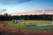 "Middletown, New York - Children play games with Middletown High School athletes at Faller Field during Family Fun Night on May 17, 2013. After dark ""The Lorax"" was shown on the stadium screen."