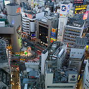"View of Shibuya, Tokyo. The name ""Shibuya"" is also used to refer to the central business district of Shibuya Ward, which surrounds Shibuya Station, one of Tokyo's busiest railway stations. Shibuya is known as one of the fashion centers of Japan, particularly for young people, and as a major nightlife area."