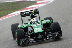 19.04.2014, International Circuit, Shanghai, CHN, FIA, Formel 1, Grand Prix von China, Qualifying Tag, im Bild Marcus Ericsson (SWE) Caterham CT05. // during the Qualifyingday of Chinese Formula One Grand Prix at the International Circuit in Shanghai, China on 2014/04/19. EXPA Pictures © 2014, PhotoCredit: EXPA/ Sutton Images/ Mina<br /> <br /> *****ATTENTION - for AUT, SLO, CRO, SRB, BIH, MAZ only*****