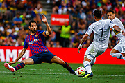 Sergio Busquets from Spain during the Joan Gamper trophy game between FC Barcelona and CA Boca Juniors in Camp Nou Stadium at Barcelona, on 15 of August of 2018, Spain, Photo Xavier Bonilla / SpainProSportsImages / DPPI / ProSportsImages / DPPI