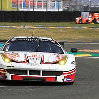 #60, Ferrari 458 Italia, Formula Racing, driven by, Jonny Laursen, Mikel Mac, Christina Nielsen, 24 Heures Du Mans , 15/06/2016,