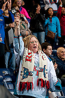 KELOWNA, CANADA - MARCH 5: The Kelowna Rockets fans celebrate the 53 season win against the Spokane Chiefs, a record breaking game in the team franchise history, on March 5, 2014 at Prospera Place in Kelowna, British Columbia, Canada. The Rockets previous record of 52 wins per season was acheived in 2012-2013  (Photo by Marissa Baecker/Getty Images)  *** Local Caption ***