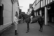 "09/08/1967<br /> 08/09/1967<br /> 09 August 1967<br /> R.D.S. Horse Show 2nd day at Balls bridge, Dublin. Photo shows sisters Diana and Claire Magee with ""Golden Dawn"", which was entered in class for unmade Polo Ponies."
