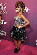 October 13, 2012- Bronx, NY: BET 106 & Park On-Air Personality Miss Mykie at the Black Girls Rock! Awards Red Carpet presented by BET Networks and sponsored by Chevy held at the Paradise Theater on October 13, 2012 in the Bronx, New York. BLACK GIRLS ROCK! Inc. is 501(c)3 non-profit youth empowerment and mentoring organization founded by DJ Beverly Bond, established to promote the arts for young women of color, as well as to encourage dialogue and analysis of the ways women of color are portrayed in the media. (Terrence Jennings)