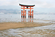 Torii at Itsukushima Shrine, Miyajima, Japan