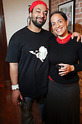 l to r:  Ephniko and Noelle Theard at ' Shoot-Out: Lonely Crusade..An Homage to Jamel Shabazz ' held at The George and Leah McKenna African American Museum of Art on December 12, 2008 in New Orleans, Louisana