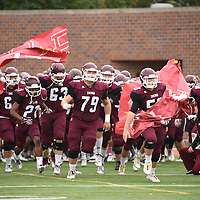 October 15,2016 - Chicago, IL,US - SAA: Chicago Maroons (CHI) vs Rhodes (RDHS)  at Amos Alonzo Stagg Field in Chicago IL. Chicago pulled out the win late in 4th quarter when the defense forced a fumble with 1:20 left to play. Chicago Maroons win 33-26.