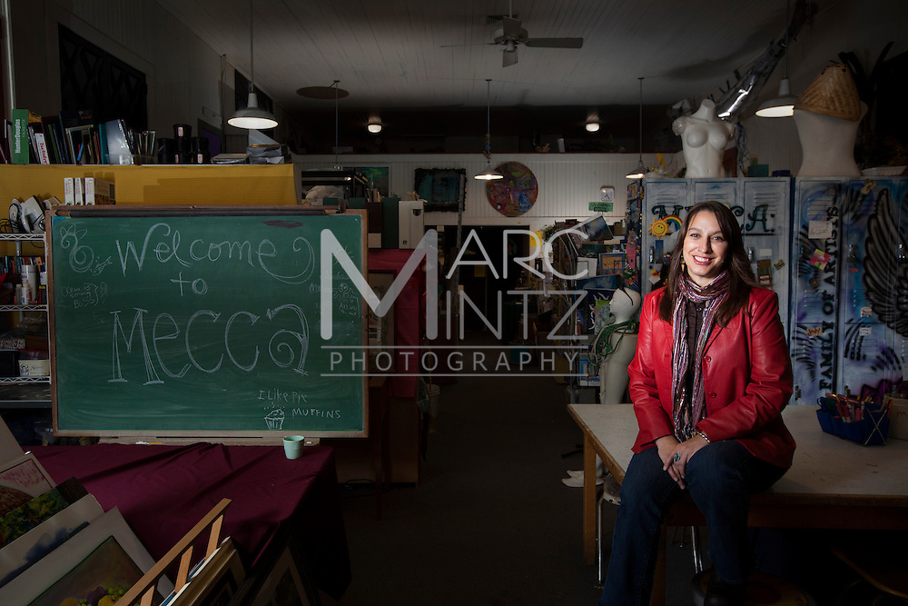 Mija.  Executive Director.  After hours at the Materials Exchange Center for Community Arts (MECCA).  Eugene, Oregon.