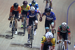 Great Britain's Andy Tennant (left) and Chris Latham in action during the Men's Madison Chase, during day one of the Six Day Series at the HSBC National Cycling Centre, Manchester.