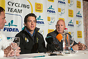 BELGIUM / TELENET FIDEA CYCLING TEAM / CYCLOCROSS / VELDRIJDEN / 2012-2013 / PRESS CONFERENCE / PERSCONFERENTIE / NOEL TRUYERS / TOM MEEUSEN / HANS VAN KASTEREN /