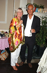 RODNEY SHIELDS and his wife SANDRA at a party hosted by Franc Roddam and Frost French to celebrate the publication of Margarita's Olive Press by Rodney Sheilds held at No1 Greek Street, Soho Square, London W1 on 15th September 2005.<br /><br />NON EXCLUSIVE - WORLD RIGHTS