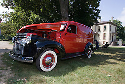 06 Aug 2011:  1941 Chevrolet Panel van owned by Clinton Conway on display for the 15th Annual McLean County Car Association Antique Car show at David Davis Mansion, Bloomington Illinois