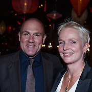 NLD/Amsterdam/20131101 - JFK Gala 2013, the Greatest Man 2013, Andre Kuipers en partner Helen Conijn