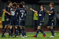 Dinamo celebrates at 1st football game of 2nd Qualifying Round for UEFA Champions league between NK Domzale vs HNK Dinamo Zagreb, on July 30, 2008, in Domzale, Slovenia. Dinamo won 3:0. (Photo by Vid Ponikvar / Sportal Images)