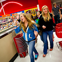 SARASOTA, FL -- November 25, 2011 -- (PHOTO / CHIP LITHERLAND) -- Shopper take to the aisles at the Super Target on University Avenue for the Black Friday deals in Sarasota, Fla., early on Friday, November 25, 2011.  The chain has joined many other stores opening at midnight on Thanksgiving Day with door buster deals that attract hundreds of wallets and lines around the block.