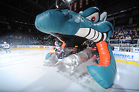 KELOWNA, CANADA - FEBRUARY 18: Mackenzie Johnston #22 of the Kelowna Rockets enters the ice against the Red Deer Rebels at the Kelowna Rockets on February 18, 2012 at Prospera Place in Kelowna, British Columbia, Canada (Photo by Marissa Baecker/Shoot the Breeze) *** Local Caption ***