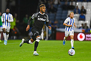Jayden Bogle of Derby County (37) in action during the EFL Sky Bet Championship match between Huddersfield Town and Derby County at the John Smiths Stadium, Huddersfield, England on 5 August 2019.