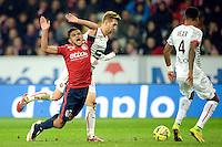 Faute sur Sofiane Boufal - 15.03.2015 - Lille / Rennes - 29e journee Ligue 1<br /> Photo : Andre Ferreira / Icon Sport