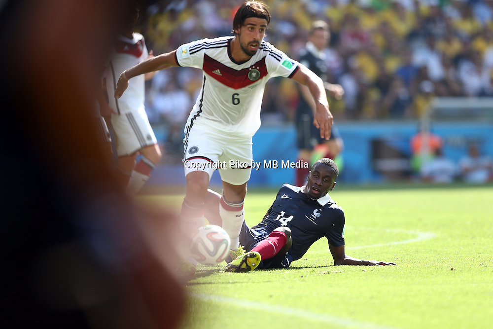 Fifa Soccer World Cup - Brazil 2014 - <br /> FRANCE (FRA) Vs. GERMANY (GER) - Quarter-finals - Estadio do Maracana Rio De Janeiro -- Brazil (BRA) - 04 July 2014 <br /> Here German player Sami KHEDIRA (L) and French player Blaise MATUIDI (R)<br /> &copy; PikoPress