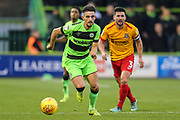 Forest Green Rovers Liam Shephard(2) runs forward during the EFL Sky Bet League 2 match between Forest Green Rovers and Northampton Town at the New Lawn, Forest Green, United Kingdom on 1 January 2019.