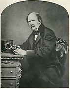 'William Henry Fox Talbot (1800-1877) in 1864: English inventor and pioneer of photography. Devised the calotype process, paper sensitized with silver iodide.'