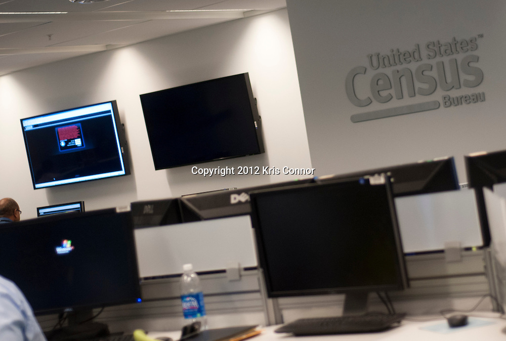 A general view of the Center for Applied Technology lab at the Census Bureau headquarters in Suitland, Maryland on April 4, 2012. The bureau is looking at the Apple Ipad and other handheld devices to help get information during the 2020 census. Photo by Kris Connor