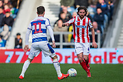 Joe Allen (Stoke) during the EFL Sky Bet Championship match between Queens Park Rangers and Stoke City at the Loftus Road Stadium, London, England on 9 March 2019.