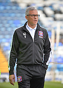 Carlisle United Manager Keith Curle during the Sky Bet League 2 match between Portsmouth and Carlisle United at Fratton Park, Portsmouth, England on 2 April 2016. Photo by Adam Rivers.
