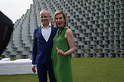 HANS ULRICH OBRIST; JULIA PEYTON-JONES, 2016 SERPENTINE SUMMER FUNDRAISER PARTY CO-HOSTED BY TOMMY HILFIGER. Serpentine Pavilion, Designed by Bjarke Ingels (BIG), Kensington Gardens. London. 6 July 2016