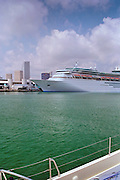 Cruise Ships,  Port of Miami, Florida, Dodge Island, Intracoastal Waterway, USA
