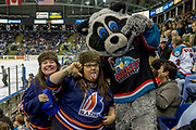 KELOWNA, CANADA - MARCH 25:  Kamloops Fans at the Kelowna Rockets game on March 24, 2017 at Prospera Place in Kelowna, British Columbia, Canada.  (Photo By Cindy Rogers/Nyasa Photography,  *** Local Caption ***