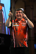Mensur Suljovic during the BetVictor World Matchplay at Winter Gardens, Blackpool, United Kingdom on 27 July 2018. Picture by Chris SargeantBlackpool, United Kingdom on 27 July 2018. Picture by Chris Sargeant.