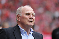 18.05.2019, Allianz Arena, Muenchen, GER, 1. FBL, FC Bayern Muenchen vs Eintracht Frankfurt, 34. Runde, Meisterfeier nach Spielende, im Bild Uli Hoeneß Portrait // during the celebration after winning the championship of German Bundesliga season 2018/2019. Allianz Arena in Munich, Germany on 2019/05/18. EXPA Pictures © 2019, PhotoCredit: EXPA/ SM<br /> <br /> *****ATTENTION - OUT of GER*****