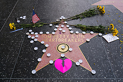 Fans gather at Tom Petty's star on the Hollywood Walk of Fame after the announcement of his death. 02 Oct 2017 Pictured: Tom Petty. Photo credit: AaronP/Bauergriffin.com / MEGA TheMegaAgency.com +1 888 505 6342