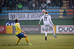 Pišek and Karničnik in action during football match between NŠ Mura and NK Celje in 18th Round of Prva liga Telekom Slovenije 2018/19, on December 2, 2018 in Fazanerija, Murska Sobota, Slovenia. Photo by Blaž Weindorfer / Sportida