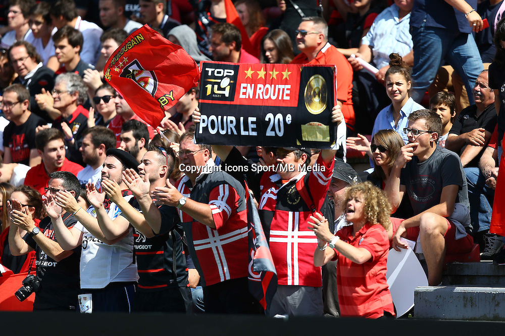 Supporters Toulouse - 30.05.2015 - Toulouse / Oyonnax - Barrages Top 14<br />Photo : Manuel Blondeau / Icon Sport