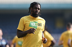 Anthony Grant of Shrewsbury Town wearing a kick it out t-shirt - Mandatory by-line: Arron Gent/JMP - 30/03/2019 - FOOTBALL - Roots Hall - Southend-on-Sea, England - Southend United v Shrewsbury Town - Sky Bet League One