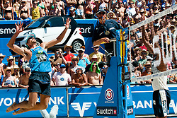 Emanuel Rego of Brazil at A1 Beach Volleyball Grand Slam tournament of Swatch FIVB World Tour 2010, bronze medal, on July 31, 2010 in Klagenfurt, Austria. (Photo by Matic Klansek Velej / Sportida)