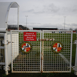 TELFORD COPYRIGHT MIKE SHERIDAN A general view of Evesham United signage during the Vanarama Conference North fixture between AFC Telford United and Gloucester City at Jubilee Stadium, Evesham on Saturday, December 28, 2019.<br /> <br /> Picture credit: Mike Sheridan/Ultrapress<br /> <br /> MS201920-037