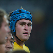 Australian captain James Horwill, in action during the Australia V Wales Bronze Final match at the IRB Rugby World Cup tournament, Auckland, New Zealand. 21st October 2011. Photo Tim Clayton...