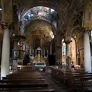 Interno della Parrocchia di Santa Maria Assunta..Interior of Santa Maria Assunta parish church