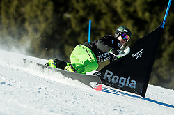 Crt Ikovic (SLO) competes during Qualification Run in Men's Parallel Giant Slalom of FIS Snowboard World Cup Rogla 2017, on January 28, 2017 at Course Jasa, Rogla, Slovenia. Photo by Vid Ponikvar / Sportida